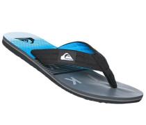 Herren Schuhe Zehensandalen, Gummi, blau gemustert