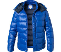 Steppjacke, Mikrofaser, royal