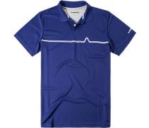 Herren Polo-Shirt Polokragen Coolmax® kobalt