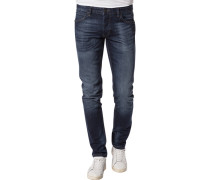 Herren Jeans, Slim Fit, Baumwoll-Stretch, denim blau