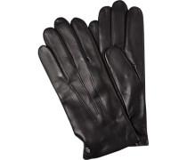 Herren Handschuhe, Lammnappa, schwarz