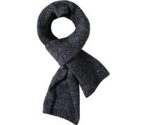 Herren Schal Wolle blau-grau meliert