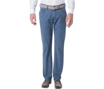 Herren Jeans Regular Fit Baumwoll-Stretch denim blau