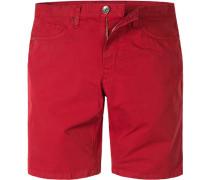 Herren Hose Bermudas Baumwolle Rot rot