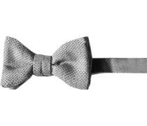 Herren Krawatte Schleife Woll-Seiden-Mix -wollweiß