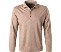 Polo-Shirt Baumwoll-Jersey nuss meliert