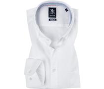 Herren Hemd Modern Fit Baumwolle weiß