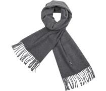 Damen Schal, Schurwolle, grau meliert