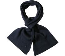 Herren Schal  Wolle nachtblau