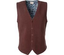 Pullover Strickweste, Body Fit, Schurwolle