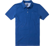 Herren Polo-Shirt Baumwoll-Piqué saphirblau