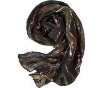 Herren  Schal Leinen-Mix camouflage khaki grün