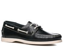 Herren Bootsschuhe Leder marineblau