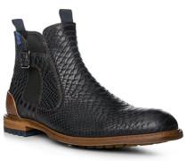 Herren Schuhe Chelsea Boots Kalbleder navy blau