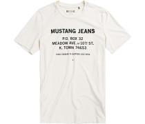 Herren T-Shirt Baumwolle creme beige