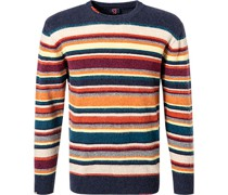 Pullover Wolle multicolour gestreift