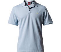 Herren Polo-Shirt Tailored Fit Baumwoll-Piqué hellblau