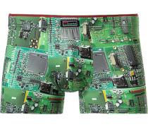 Herren Unterwäsche Trunk Microfaser-Stretch hell gemustert