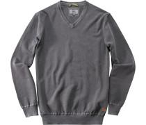 Herren Pullover Baumwolle taupe grau