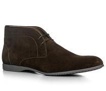 Herren Schuhe Desert Boots, Veloursleder, dunkelbraun