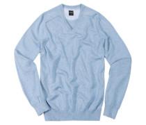 Herren V-Pullover, Baumwolle, hellblau