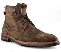 Schuhe Schnürstiefeletten Kalbleder  gemustert