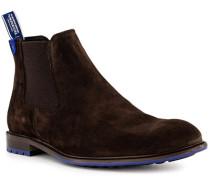 Schuhe Chelsea Boots Veloursleder dunkel