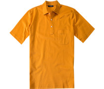 Herren Polo-Shirt Slim Fit Baumwoll-Piqué maisgelb