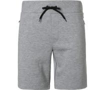 Hose Shorts Baumwolle hell meliert