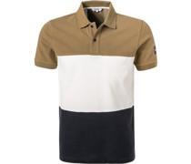 Polo-Shirt Baumwoll-Piqué hell-offwhite