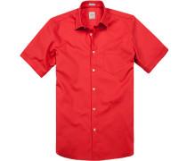 Herren Hemd, Modern Fit, Baumwolle, feuerrot