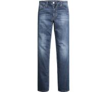 Herren Jeans Comfort Fit Baumwoll-Strech blau