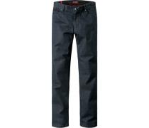 Herren Jeans, Tailored Fit, Baumwoll-Stretch, indigo blau