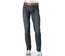 Herren Jeans Regular Slim Fit Baumwoll-Stretch dunkel