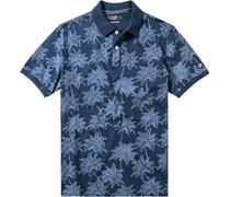 Herren Polo-Shirt Baumwolle indigo blau