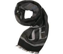 Schal, Wolle, grau- gemustert