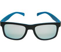 Herren Brillen adidas, Sonnenbrille, Kunststoff, schwarz-hellblau