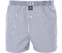 Herren Unterwäsche Boxershorts Baumwolle blau-weiß gestreift