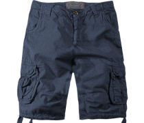 Herren Hose Cargoshorts, Regular Fit, Baumwolle, navy blau