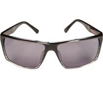 Herren Brillen Sonnenbrille Kunststoff schwarz-grau