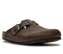 Herren Schuhe Pantolette, Leder, dunkelbraun
