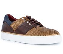 Schuhe Sneaker Leder testa di moro