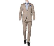 Herren Anzug, Slim Fit, Baumwolle, camel beige