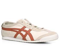 Herren Schuhe Sneaker Leder off white-rost