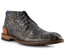 Schuhe Stiefeletten Kalbleder -silber