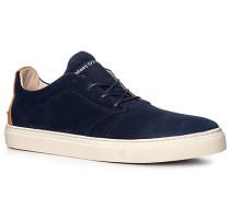 Herren Schuhe Sneaker Veloursleder dunkelblau
