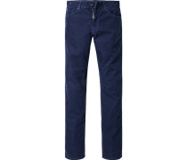 Herren Cordjeans Regular Cut Baumwoll-Stretch dunkelblau