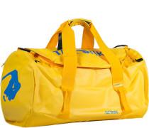 Herren Reisetasche, Microfaser, gelb blau