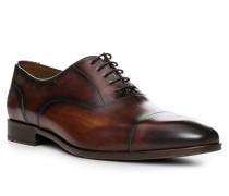 Herren Schuhe Oxford, Rindleder, braun
