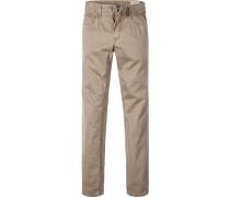Herren Jeans Straight Fit Baumwoll-Stretch